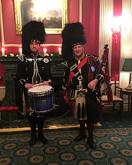 Piper with Drummer