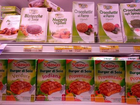 Dieta Vegana, attenti ai prodotti alimentari confezionati (hamburger di soia, tofu, seitan)