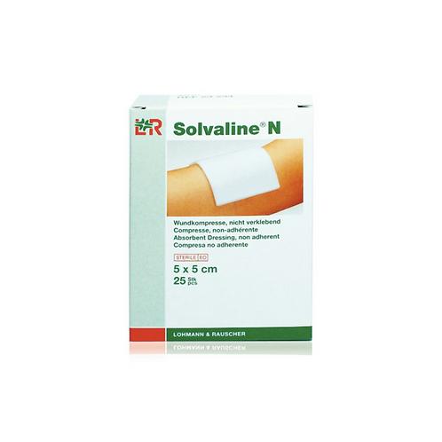 LOHMANN - SOLVALINE N STÉRILES, COMPRESSES POUR PLAIES  5 X 5 CM, 25 PCS