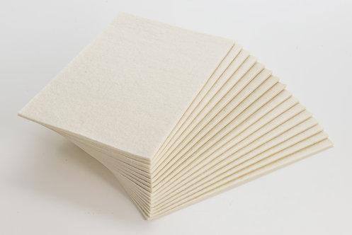 FELT-Plaques de feutre adhésif hypoallergenique 22,5 x 45cm - 2mm - 100% LAINE