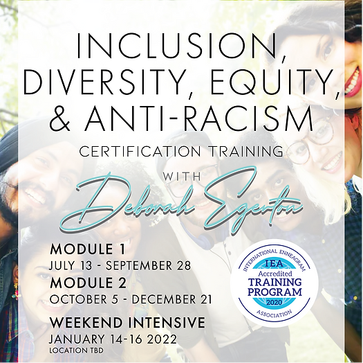 2021-2022 Inclusion, Diversity, Equity, & Anti-Racism Certification Training