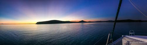 Sunset, Baie de Uitoé