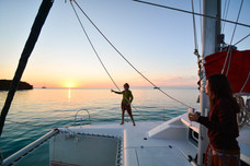 Sunset, Baie de Gadji