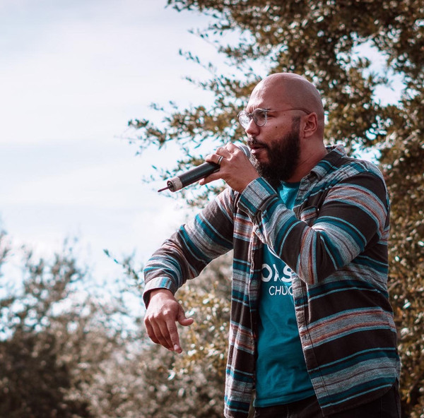 Rapping at an outreach