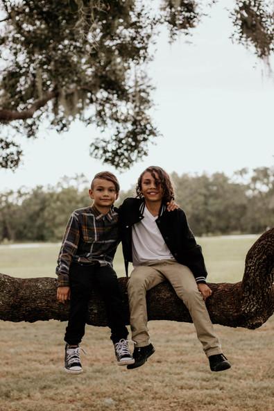 These boys love to climb trees :)