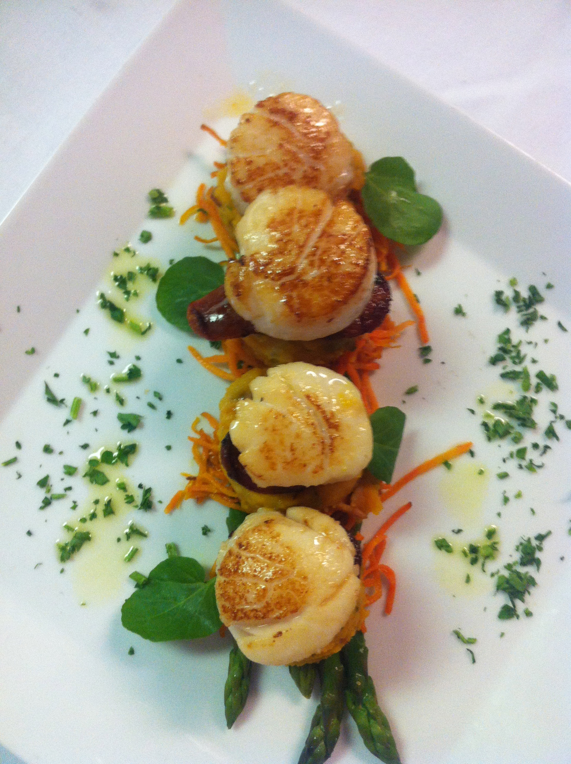 Scallops are so tender here