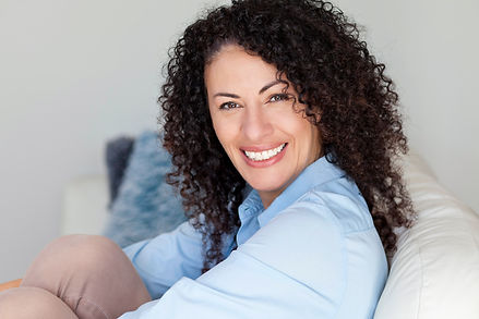 Beautiful skin woman with curly hai