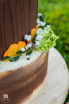 Chocolate - Spring wedding cake