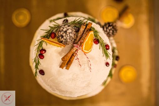Christmas - Winter wedding cake