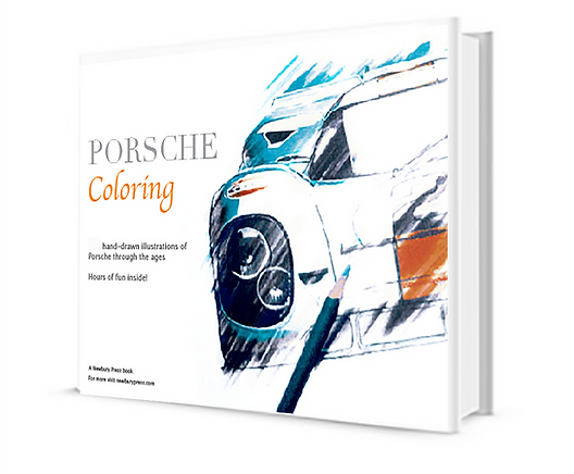 Porsche Coloring book featuring a Porsche 917 by Newbury Press