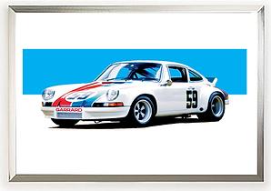 1973 Porsche 911 RSR Wall Art
