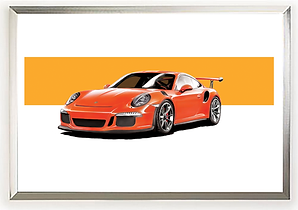 2016 Porsche 911 GT3 RS in Lava Orange wall print