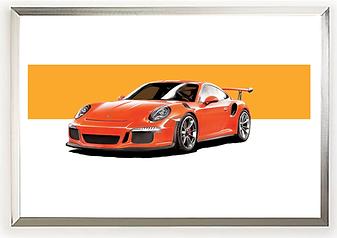 2019 Porsche (911) GT3 RS Wall Art Orang