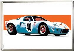 Ford GT40 Gulf 68 wall art