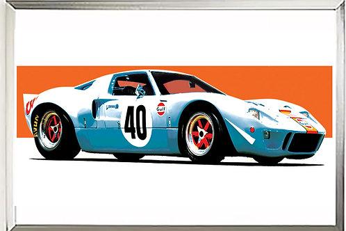 Ford GT Gulf 68  art print