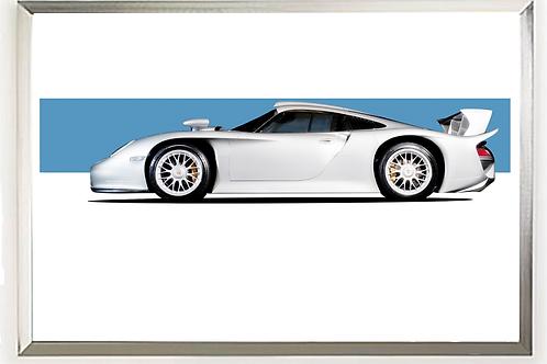 1998 Porsche  GT1 (Strassenversion) Silver