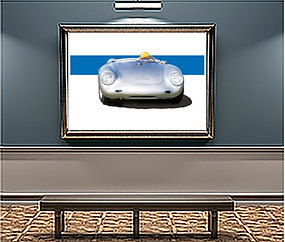 1956 Porsche 550 Spyder x large wall art