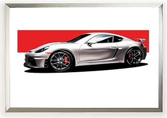 2016 Porsche Cayman 718 GT4 Clubsport Art Print