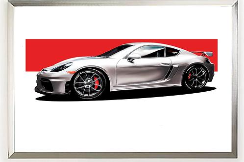 2016 Porsche 718 Cayman GT4 Clubsport Wall Art
