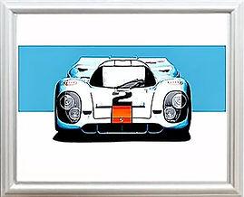 Porsche 917 gulf wall art print