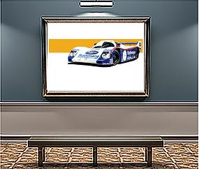 1983 Porsche 956 Rothman xLarge Wall art
