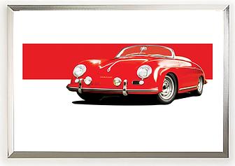 Porsche 356 Speedster Carrera GT Wall Art