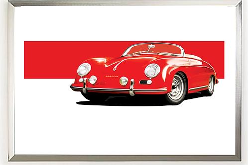 1955 Porsche 356 Carrera 1500 GS Speedster Wall Art