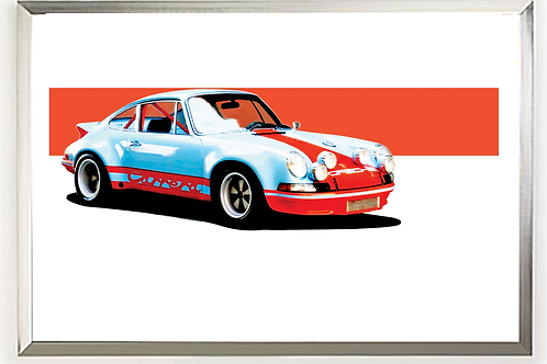 1973 Porsche 911 Carrera RSR 2.8  art print | Alfred Newbury