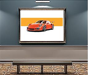 2016 Porsche 911 GT3 RS Lava Orange art print