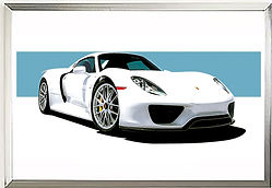 2013 Porsche 918 Wall Art Print | Newbury Press