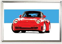 Porsche 959 Wall Art Print | Alfred Newbury