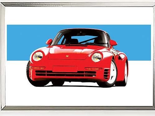 Porsche 959  Unicorn Art Print