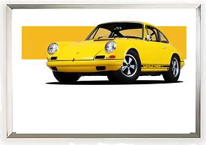 Porsche Classic 911 Yellow wall art.png