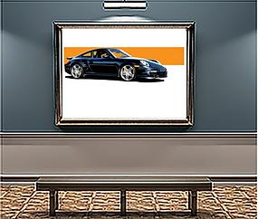 2008 Porsche 911 Turbo xLarge Wall Art