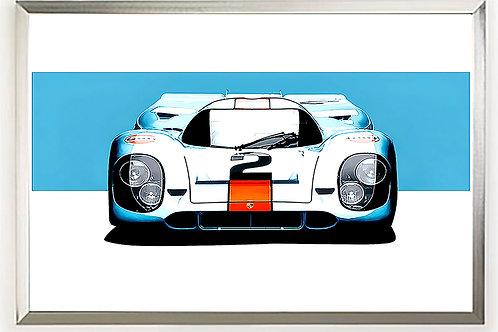 Porsche 917 (Gulf) Le Mans Art Print