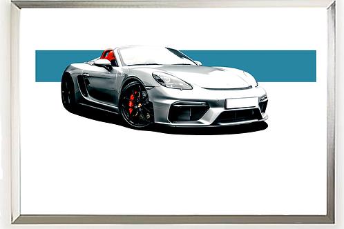 Porsche 718 (982) Spyder Wall Art