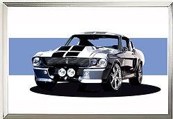 Eleanor Mustang GT500 Supersnake Wall art