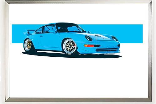 1997 Porsche 911 (993) Turbo S (Riviera Blue)