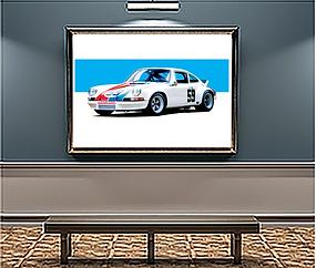 1973 Porsche 911 RSR Xlarge Wall Art.png