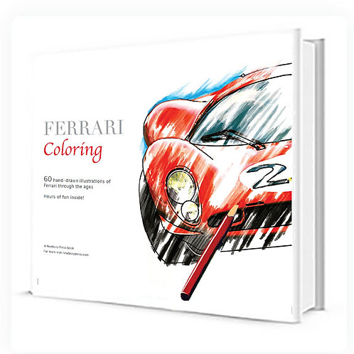 Adult Ferrari Coloring Book
