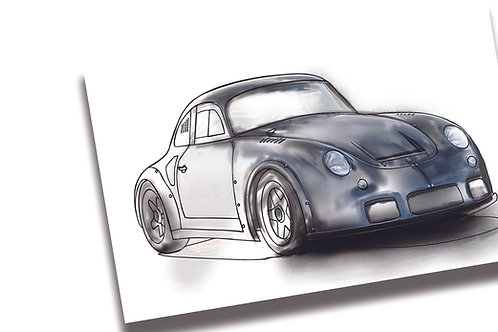 1960 Porsche MOMO 356 RSR Outlaw by Emory Premium Coloring Page