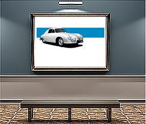 1951 Porsche 356SL Gmund xLarge Wall art