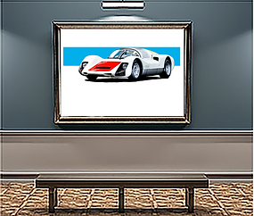 1966 Porsche 906 Carrera 6 large Wall Art