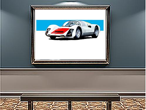 1966 Porsche 906 Carrera 6  art print   Alfred Newbury