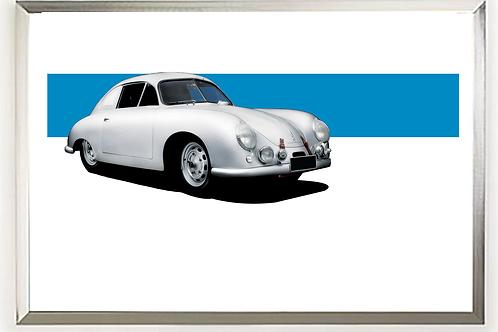 1951 Porsche 356SL Gmund art print | Alfred Newbury