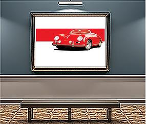 1955 Porsche 356 Carrera x Large Wall Art