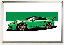 2018 Porsche GT3 RS Green Wall Print