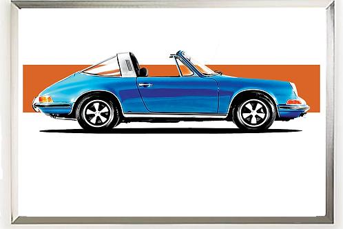 1972 Porsche 911S 2.4 Targa Wall Art