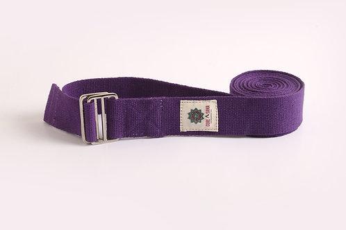 Cotton Yoga Strap- Purple