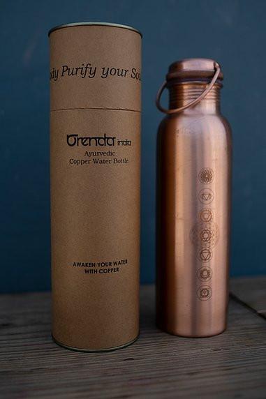 7 Chakra Copper Bottle